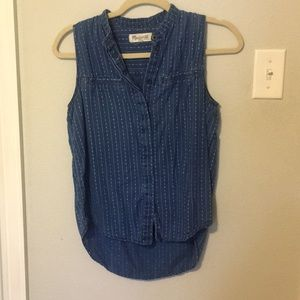 Madewell Patterned Chambray Tank